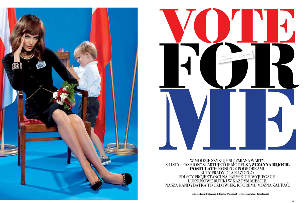Out The Politically Inspired Accompanying Story Of Fashion Magazine.