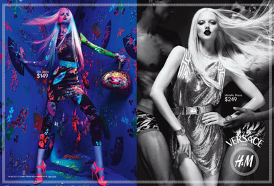 More of Daphne & Lindsey for Versace H&M Collection
