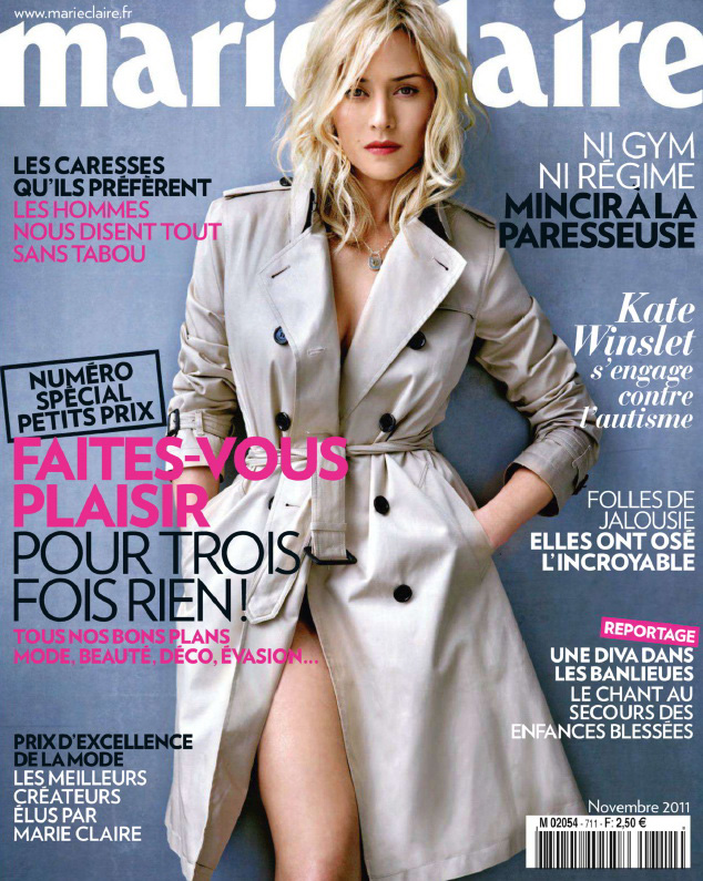 kate winslet in burberry for marie claire france. Black Bedroom Furniture Sets. Home Design Ideas