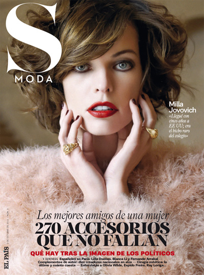 Supermodel Milla Jovovich stars in Eric Guillemain's cover shoot for S ...