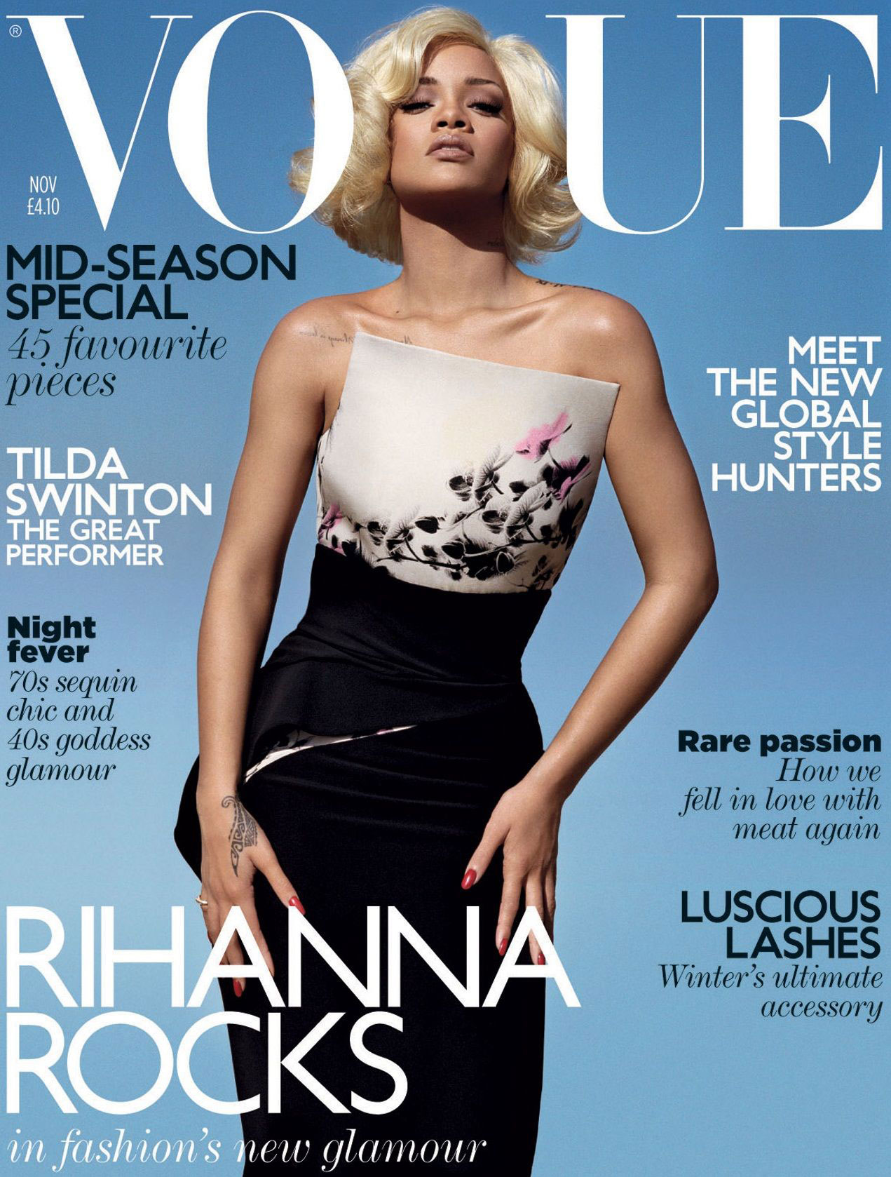 Vogue Magazine Uk May 2015 Issue: Rihanna In Armani Privé For British Vogue