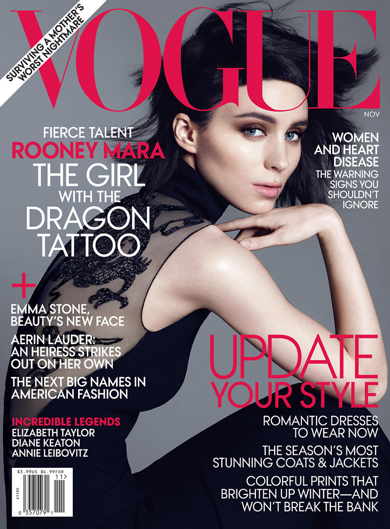 rooney mara for vogue us november 2011