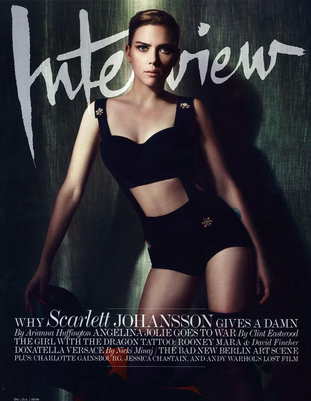 Scarlett Johansson In Dolce Amp Gabbana For Interview Magazine