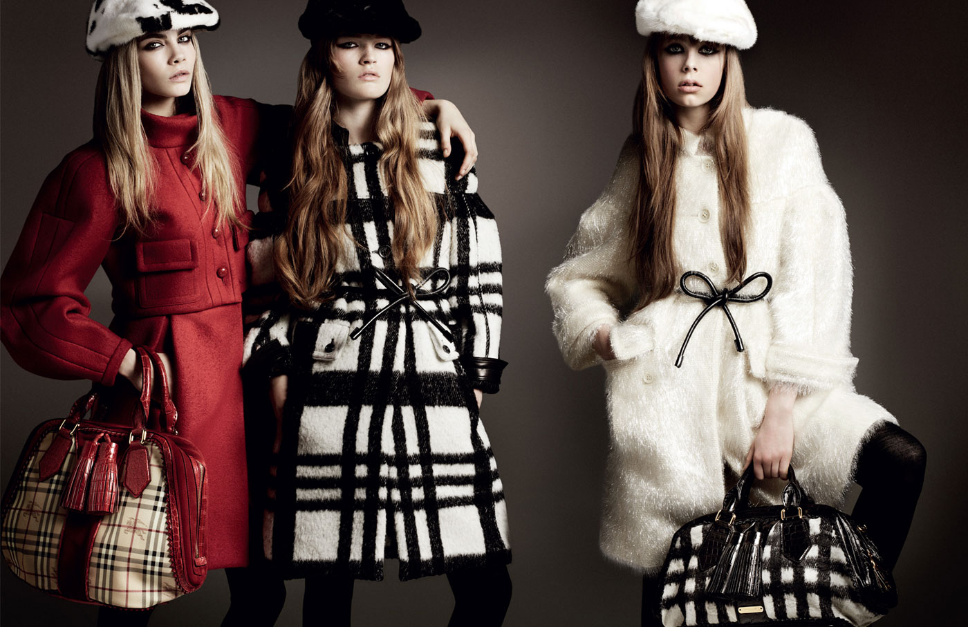 Cara Delevingne, Molly Smith and Edie Campbell for ...