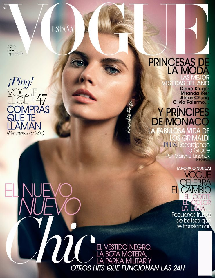Maryna Linchuk for Vogue Spain January 2012