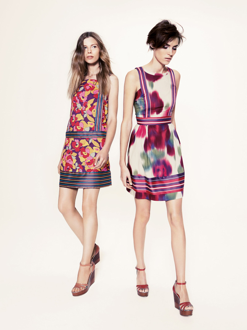 Models Alison Nix and Monika Sawicka photographed for Sportmax's Code ...