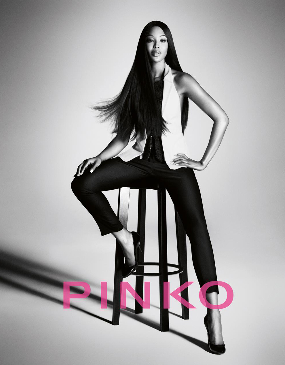 Naomi Campbell for Pinko Spring Summer 2012