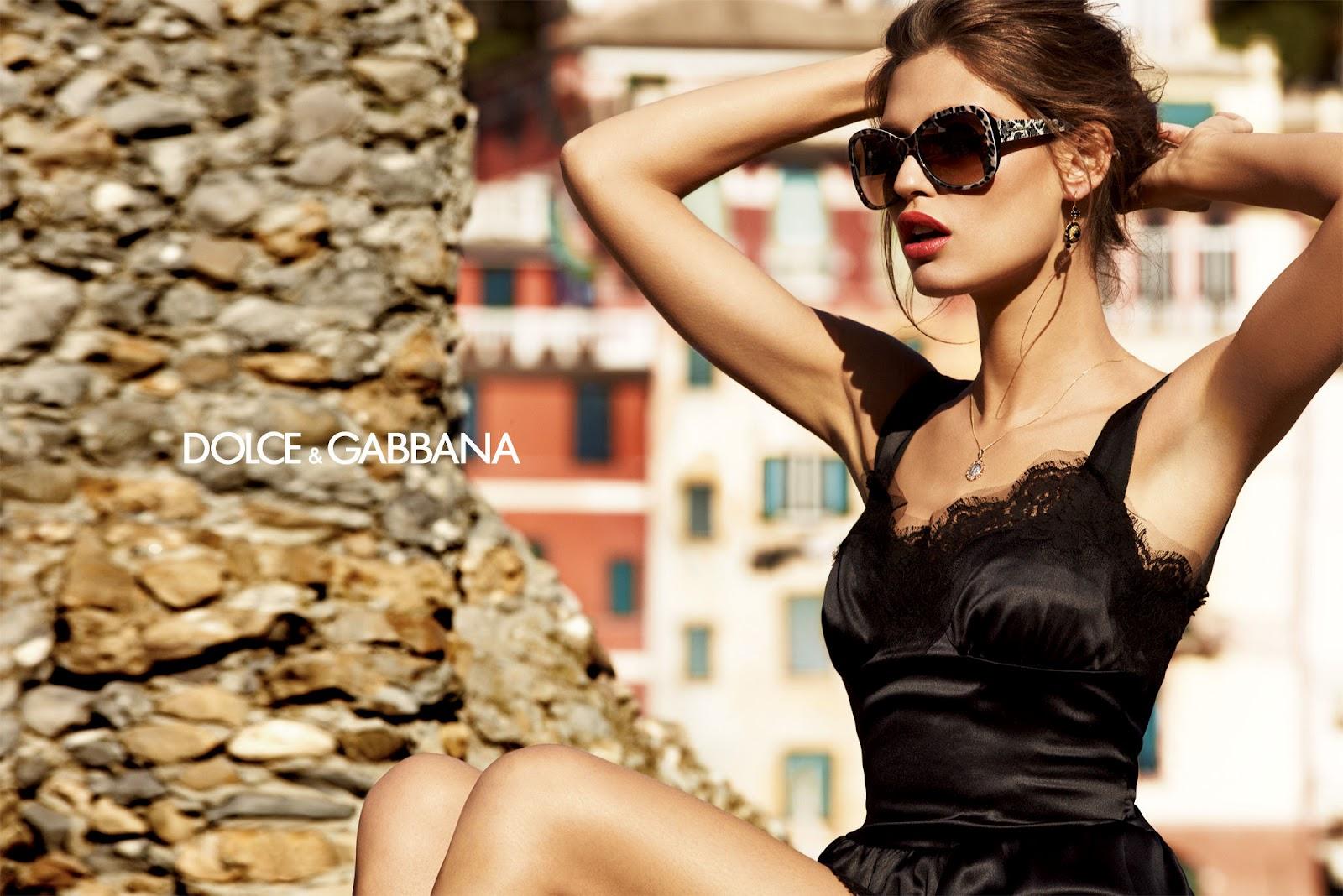 beauty Bianca Balti for the latest Dolce & Gabbana eyewear ads