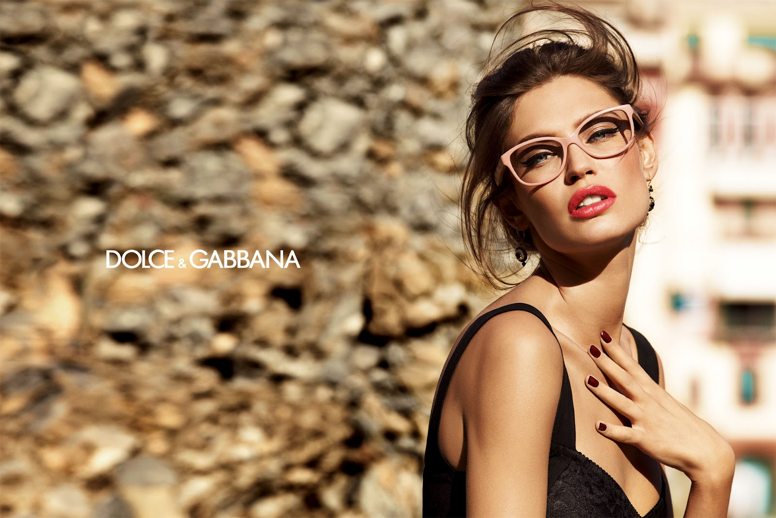 bianca balti for dolce gabbana eyewear. Black Bedroom Furniture Sets. Home Design Ideas