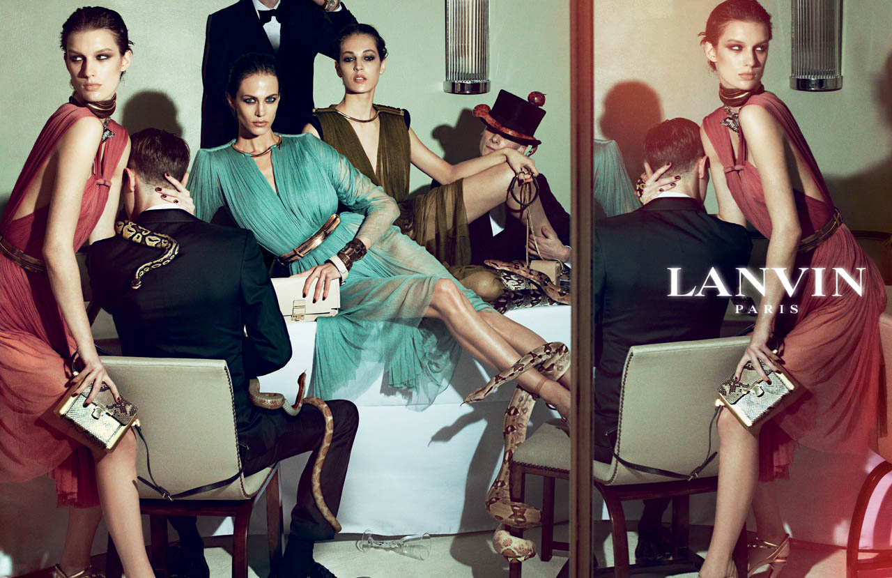 Fashion week Spring lanvin summer campaign for girls