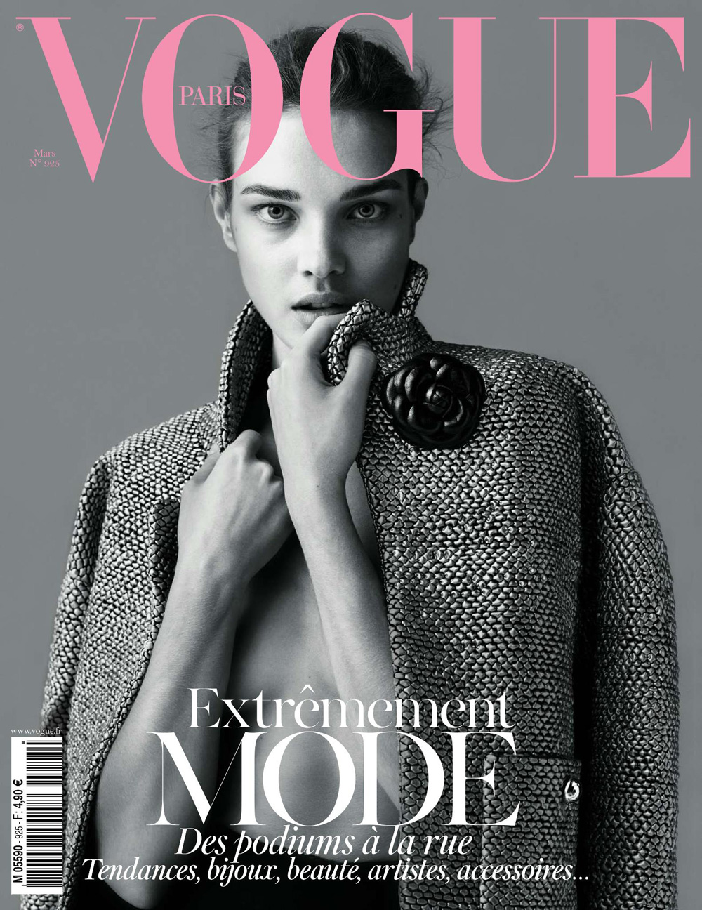 natalia vodianova for vogue paris march 2012