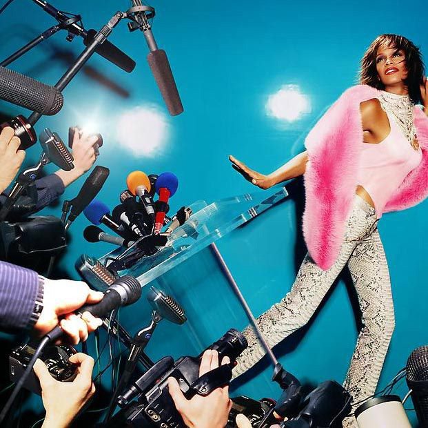 whitney houston by david lachapelle. Black Bedroom Furniture Sets. Home Design Ideas