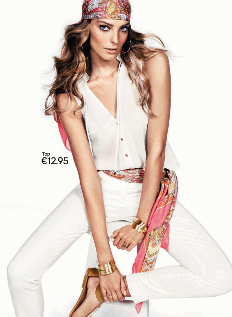 Daria Werbowy Shines On Fashion Canada S October 2013: Daria Werbowy For H&M Spring Summer 2012