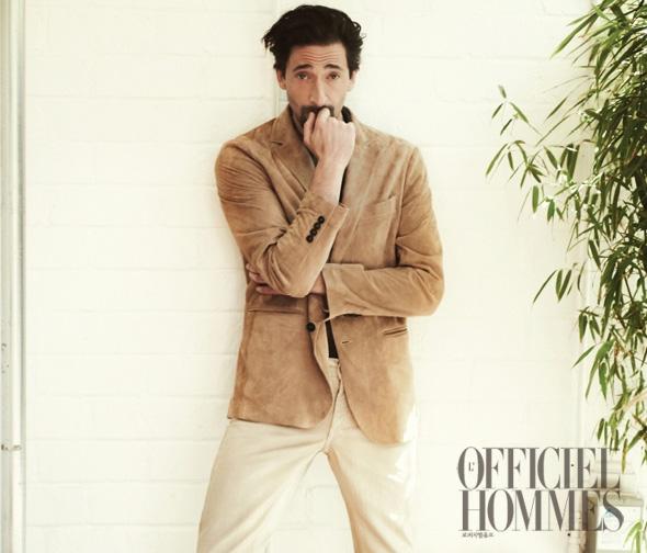 Adrien Brody for L'Officiel Hommes Korea