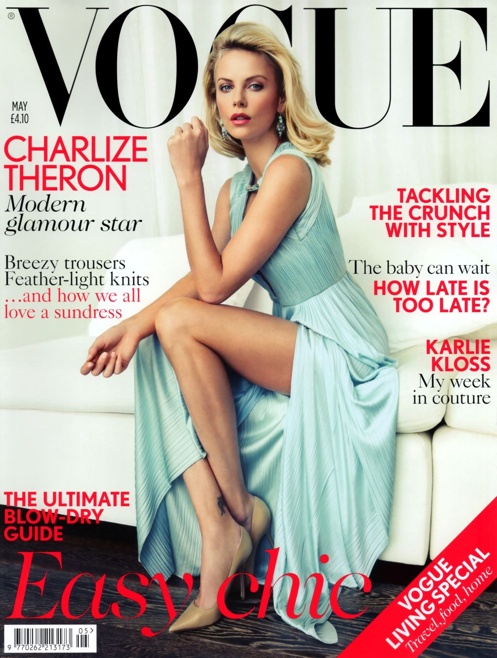 Charlize Theron In Versace For British Vogue