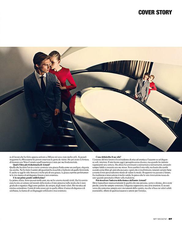 男人视野>欣赏mff时尚杂志封面设计与阿玛尼精彩内页