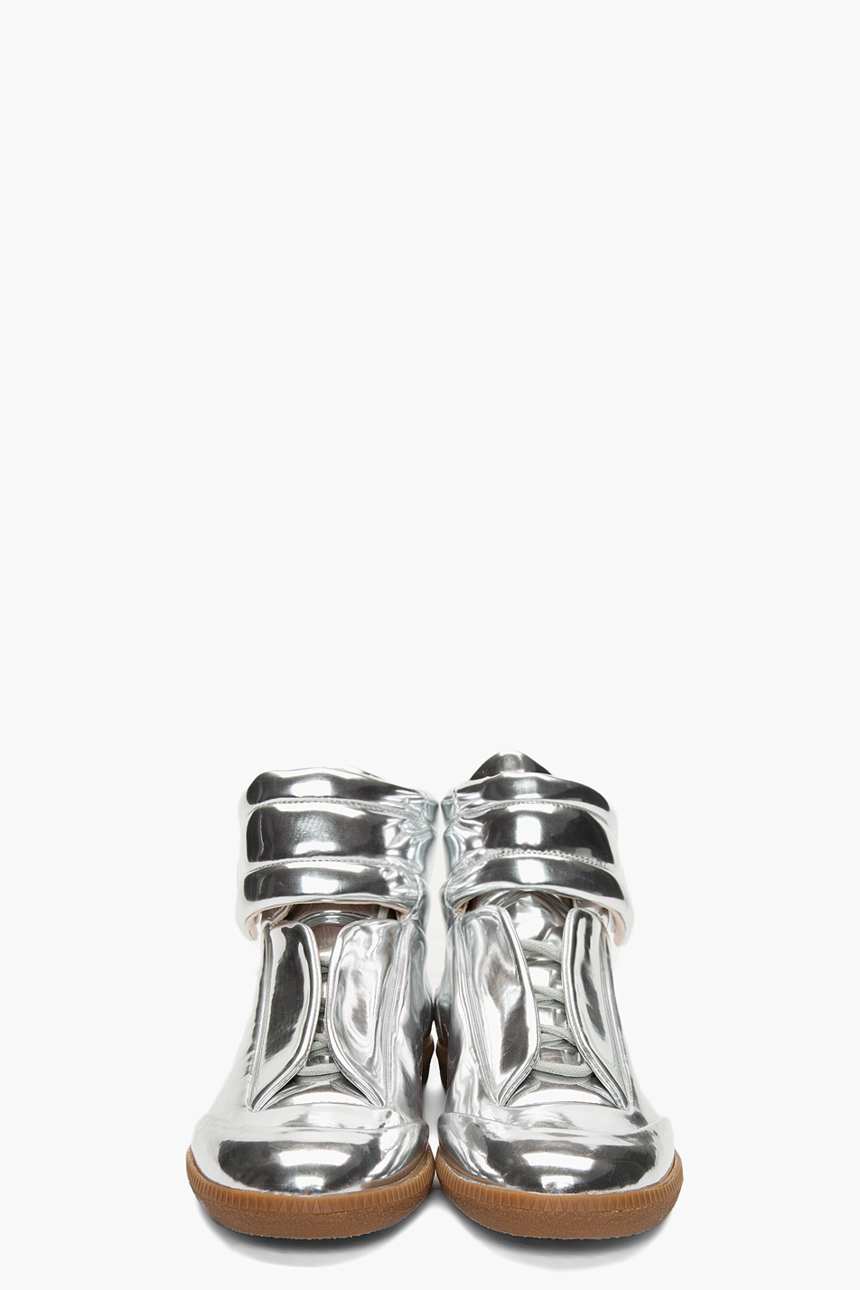 Maison martin margiela metallic sneakers for Maison de margiela