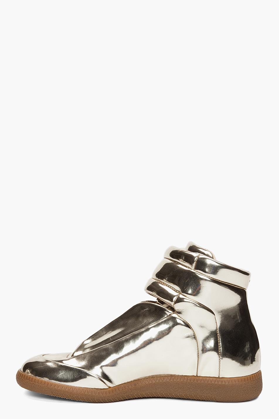 maison martin margiela metallic sneakers. Black Bedroom Furniture Sets. Home Design Ideas
