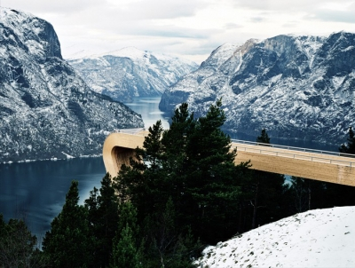 Aurland Lookout Saunders Architecture