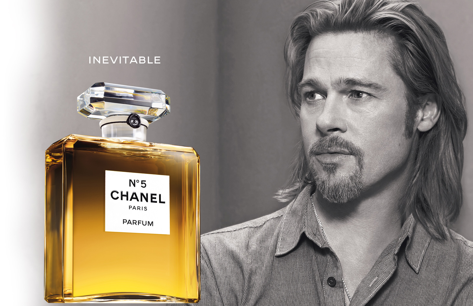 brad pitt for chanel no 5. Black Bedroom Furniture Sets. Home Design Ideas