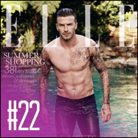 David Beckham for Elle UK July 2012