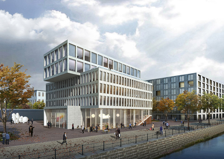 headquarters of edel ag on the new kunst campus in berlin. Black Bedroom Furniture Sets. Home Design Ideas