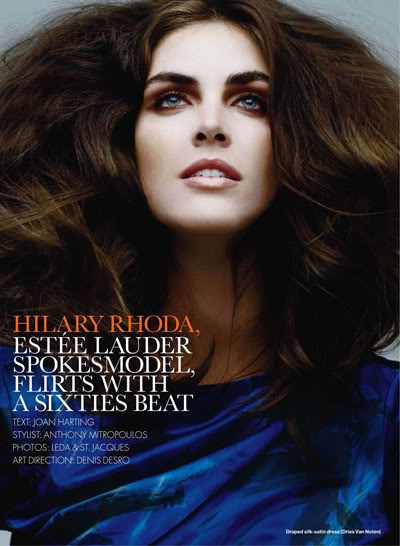 Hilary Rhoda By Leda Amp St Jacques For Elle Canada
