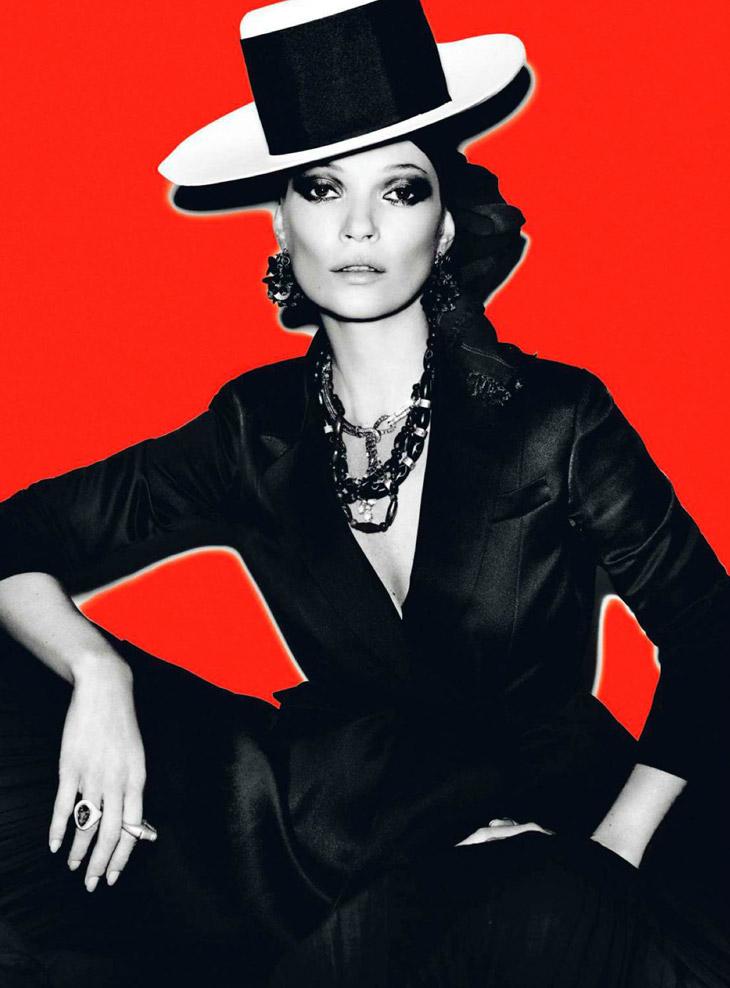 Kate Moss by Mario Testino for Vogue Paris