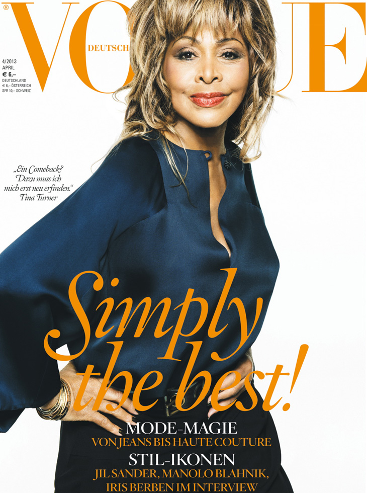 tina turner for vogue germany april 2013