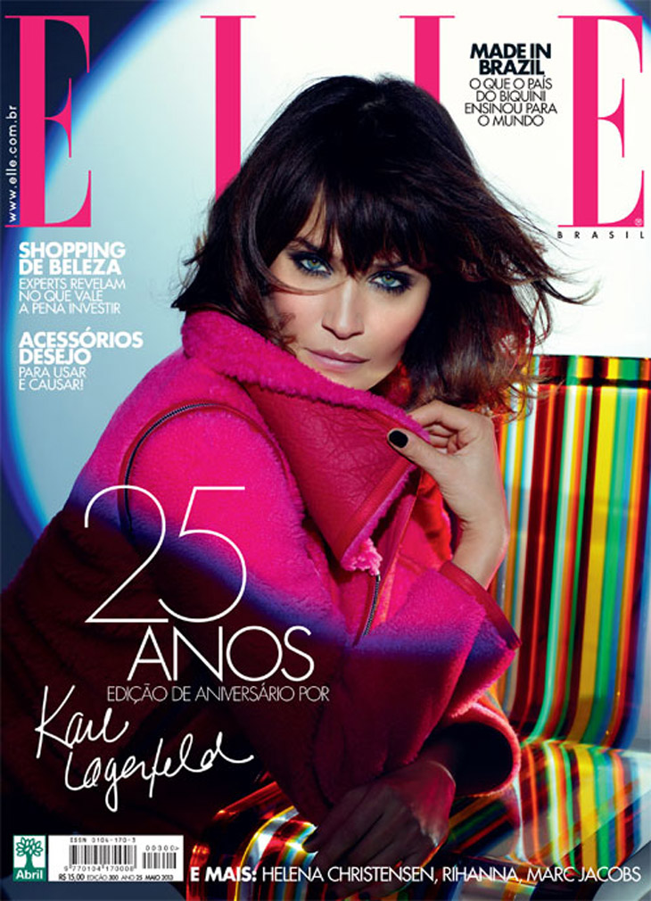 May 2013 Fashion Magazine Covers: Helena Christensen For Elle Brazil May 2013