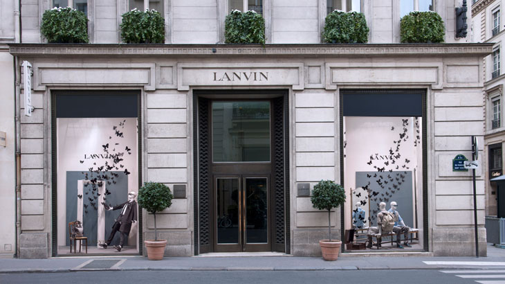 march windows at lanvin boutiques on rue du faubourg saint honor in paris. Black Bedroom Furniture Sets. Home Design Ideas