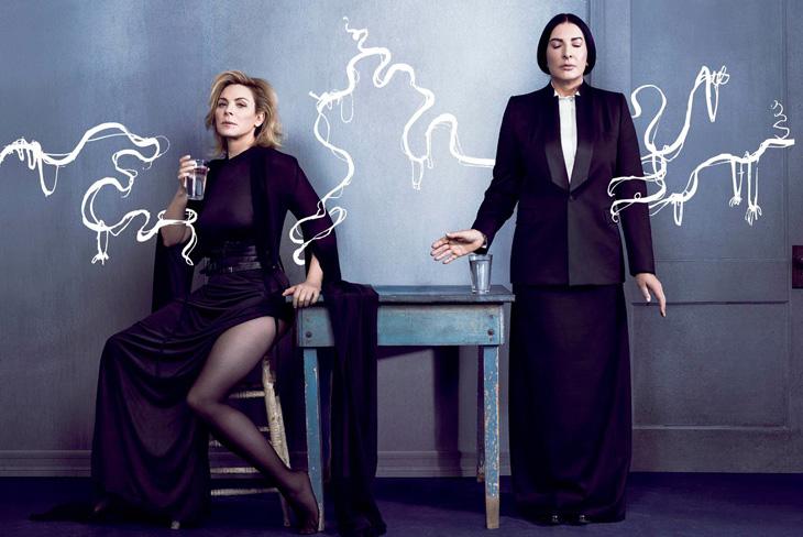 Kim Cattrall And Marina Abramovic For V Magazine