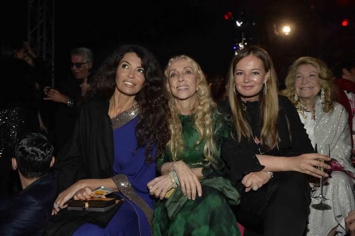 Eva Cavalli,Franca Sozzani, Afef and Marta Marzotto