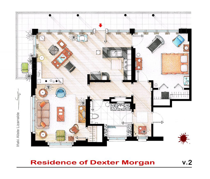 Floor plans of the most famous tv shows Home architecture tv show