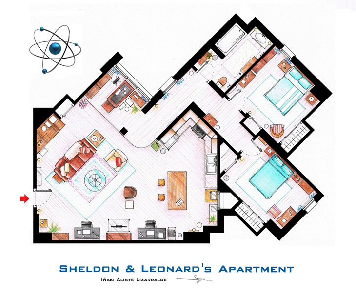 Floor Plans Of The Most Famous TV Shows