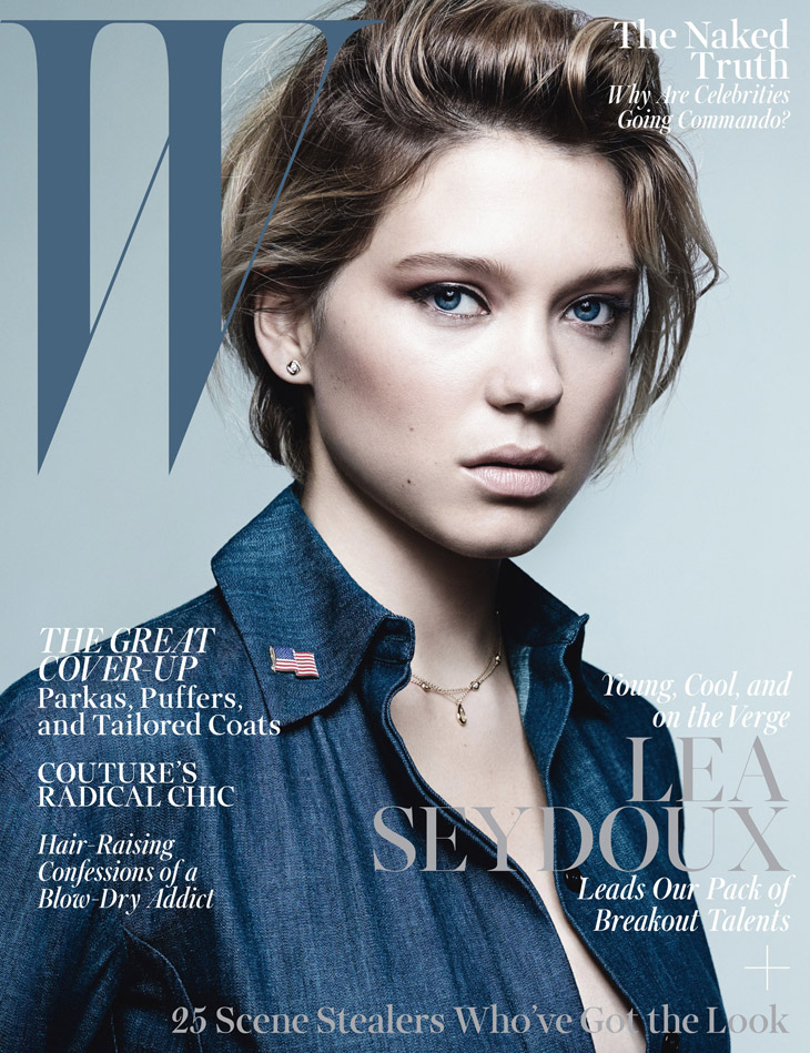 Lea Seydoux for W Magazine October 2013