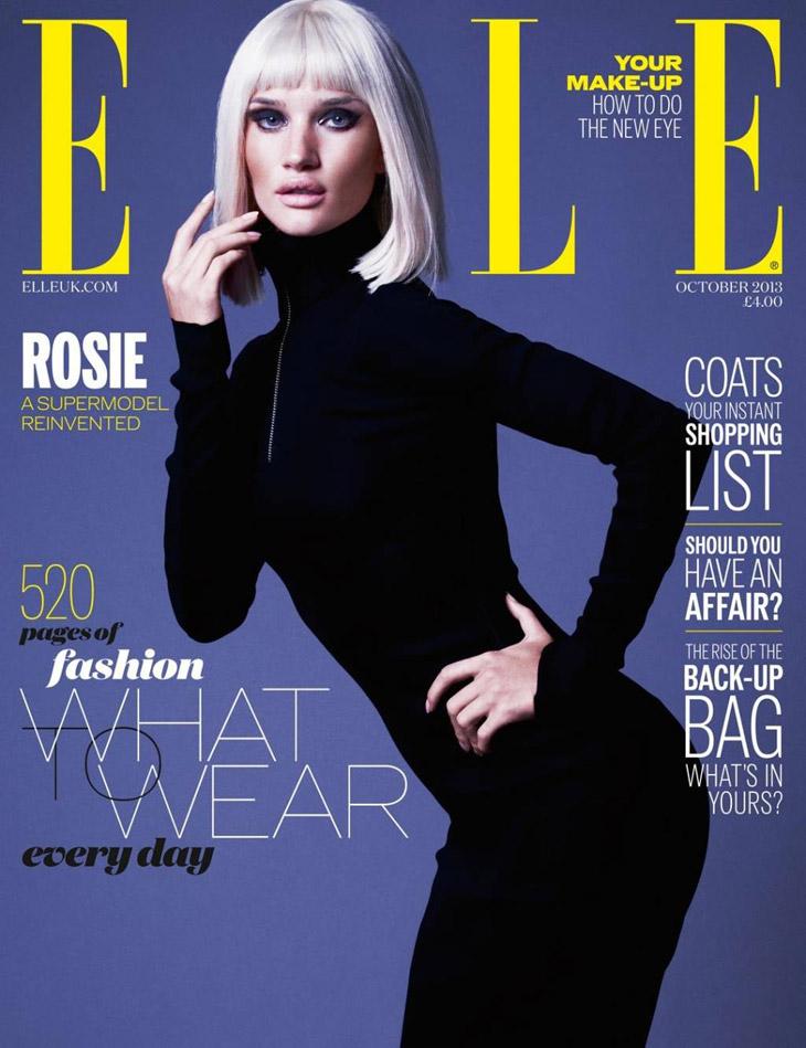 Rosie Huntington Whiteley In Miu Miu For Elle Uk October 2013