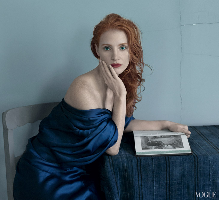 Jessica Chastain For Vogue US By Annie Leibovitz