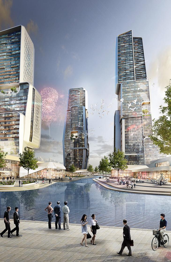 Unstudio designs yongjia world trade centre for Un studio architecture