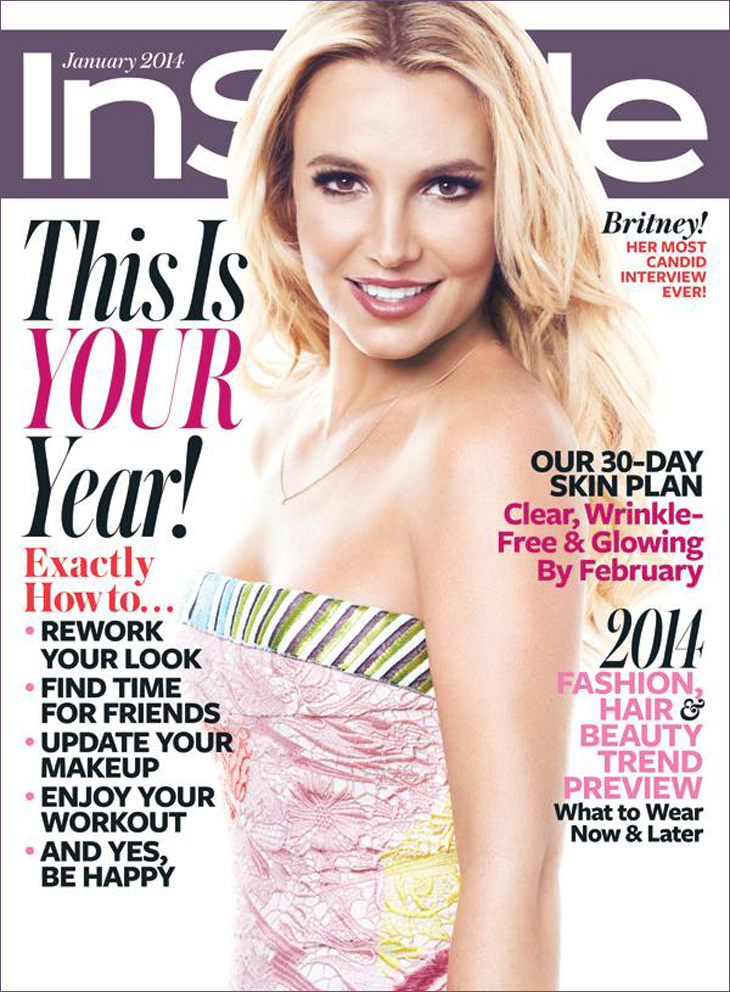 Britney Jean Spears Covers InStyle Magazine's January 2014 ...