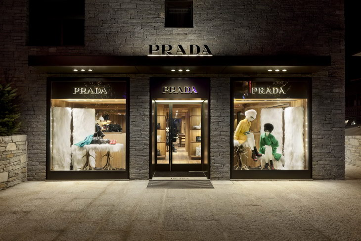 Prada Takes The Winter Mood To A New Level With Store In
