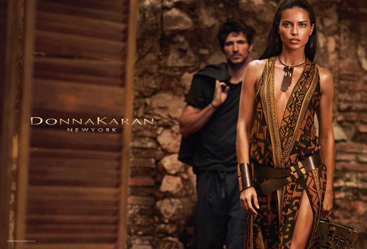 Adriana Lima & Andres Velencoso Segura for Donna Karan SS14