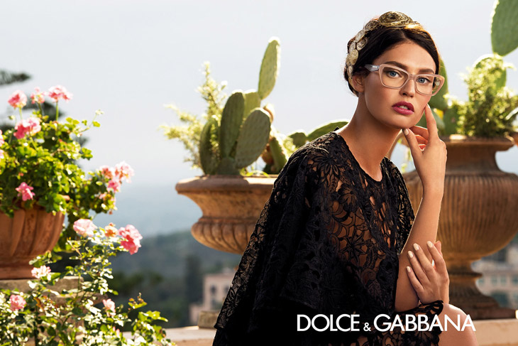 bianca balti for dolce gabbana eyewear spring summer 2014. Black Bedroom Furniture Sets. Home Design Ideas