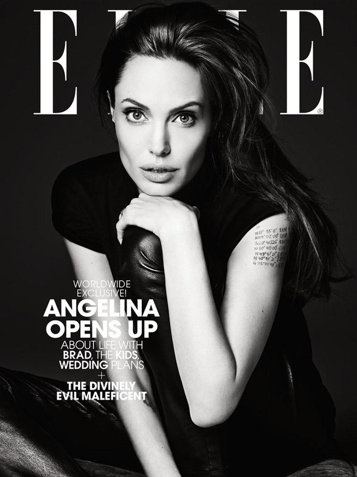 Jolie Magazine November 2017 Issue: Angelina Jolie For Elle US By Hedi Slimane