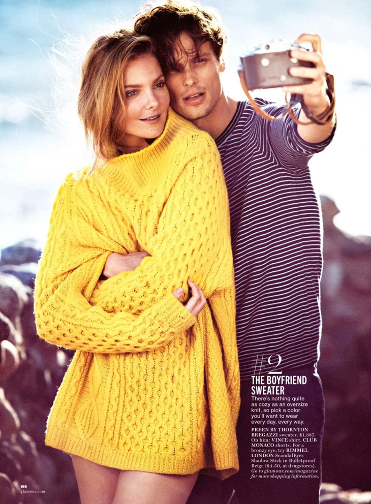 Eniko Mihalik & Matthew Gray Gubler for Glamour US