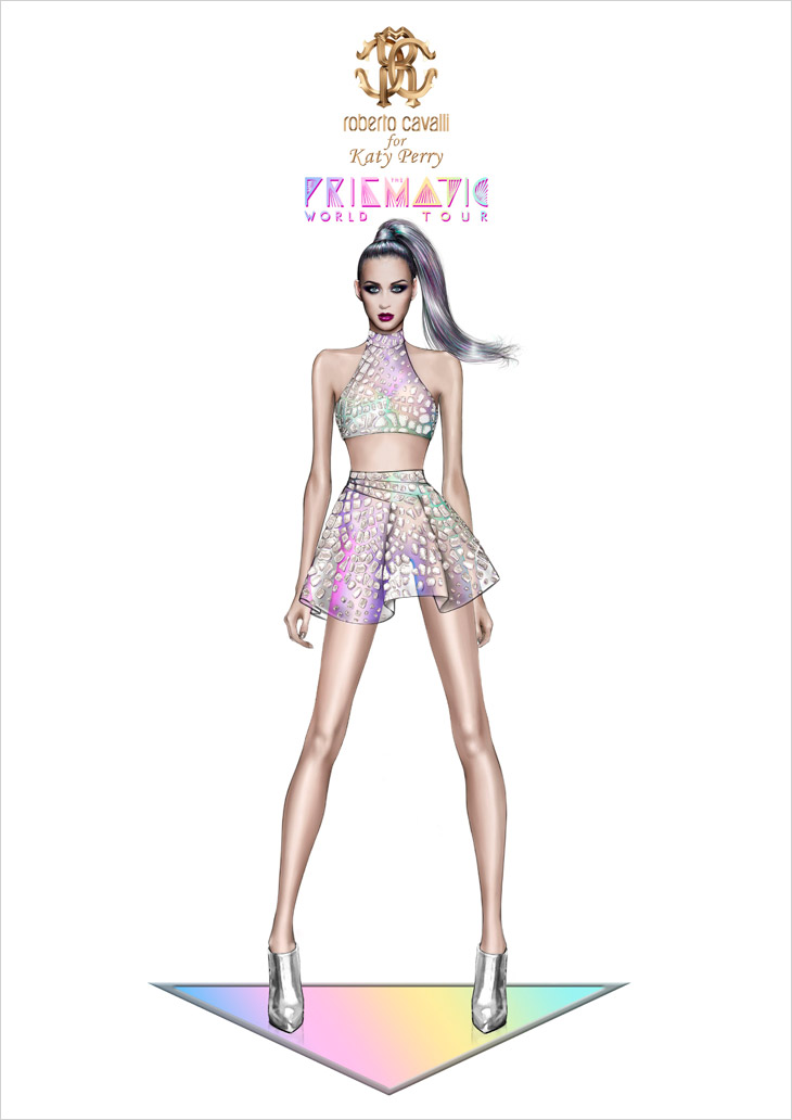 Katy Perry By Roberto Cavalli For Prismatic World Tour