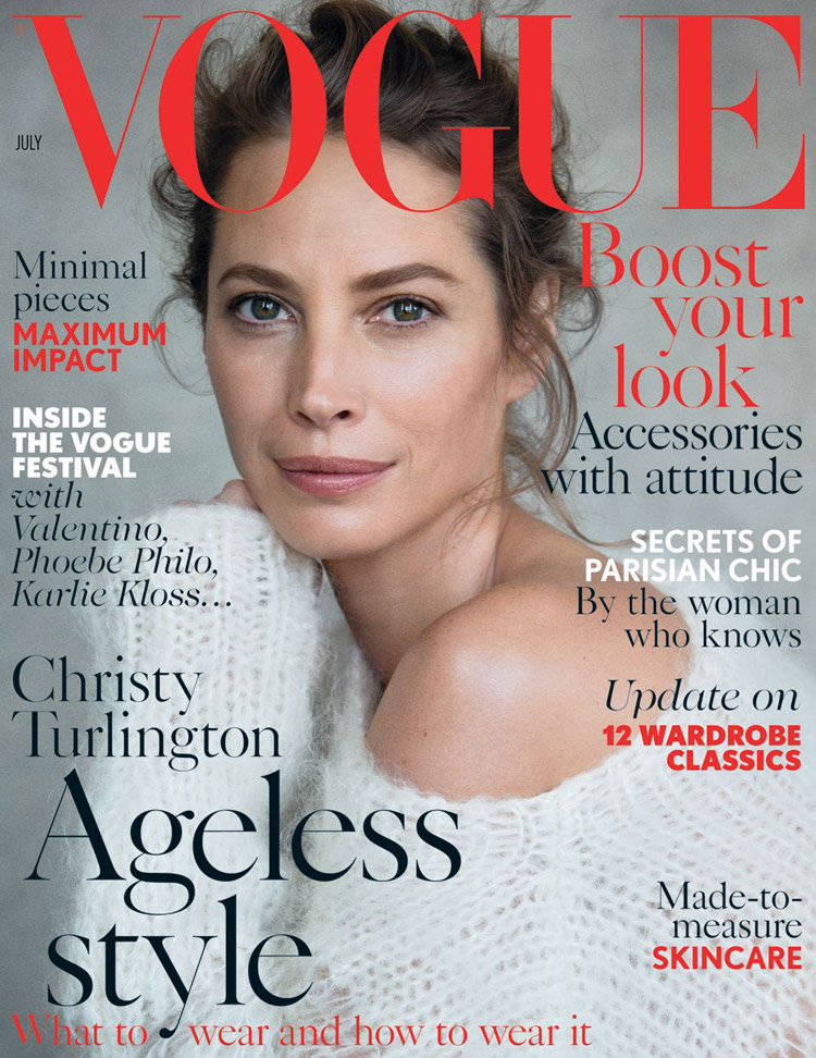 christy turlington for vogue uk july 2014