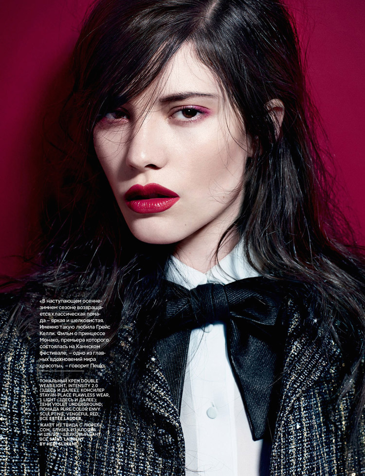 Carla Ciffoni Layers In Fall Knitwear For Elle Uk By: Devon Windsor & Carla Ciffoni For Vogue Russia