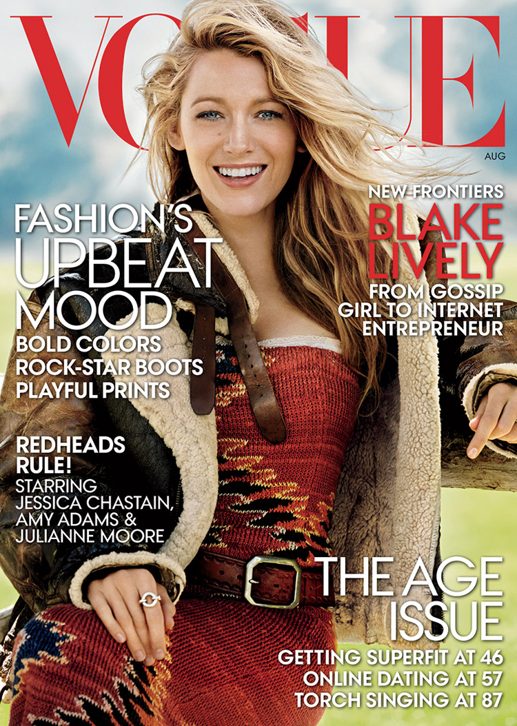 blake lively for american vogue by mario testino