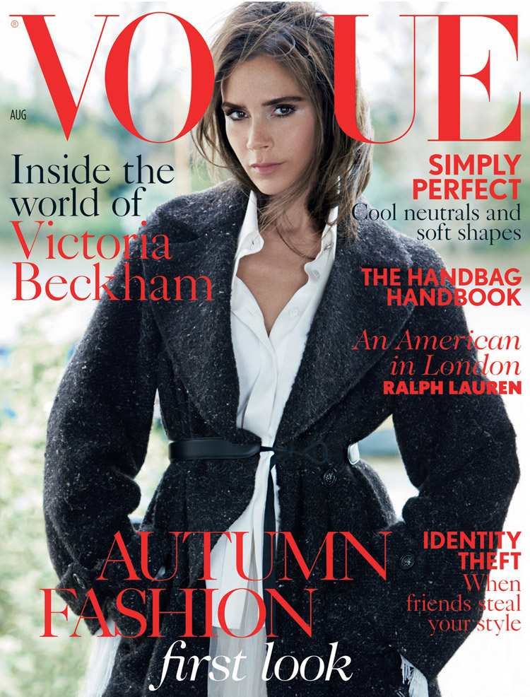 Victoria beckham for vogue uk august 2014 for Victoria magazine low country style